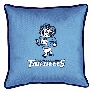 North Carolina SIDELINES Jersey Material Toss Pillow