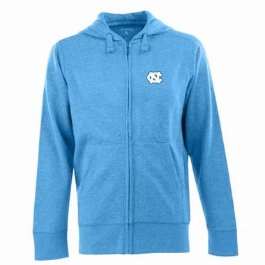 North Carolina Mens Signature Full Zip Hooded Sweatshirt (Color: Aqua)