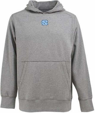 North Carolina Mens Signature Hooded Sweatshirt (Color: Gray)