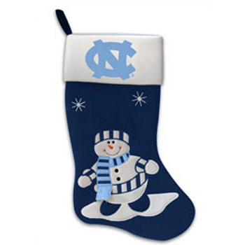 North Carolina Snowman Fabric Stocking