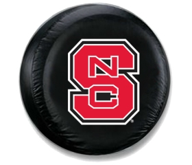 North Carolina State Wolfpack Black Tire Cover (Small Size)
