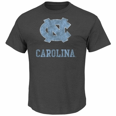 "North Carolina Tarheels Majestic ""Always Admired"" Weathered T-Shirt - Charcoal"