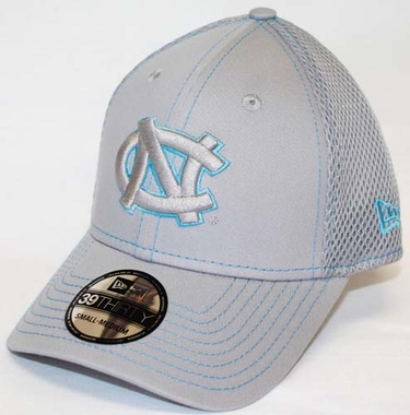 North Carolina Tarheels New Era 39THIRTY Neo Fitted Hat - Gray