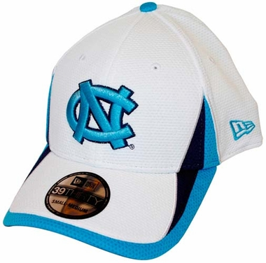 North Carolina Tarheels New Era 39THIRTY Training Classic 2 Fitted Hat - White
