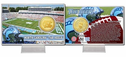 North Carolina Tarheels University of North Carolina Bronze Coin Card
