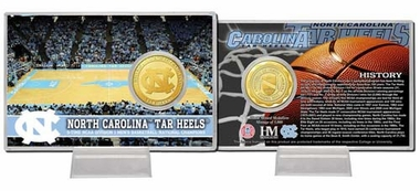 "North Carolina Tarheels University of North Carolina ""Court"" Bronze Coin Card"