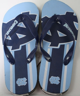 North Carolina Unisex Big Logo Flip Flops