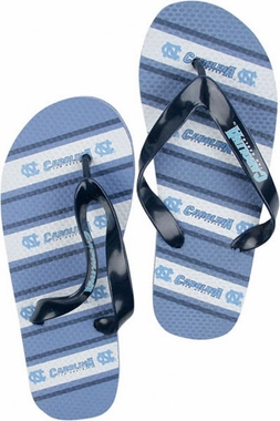 North Carolina Unisex Striped Flip Flops