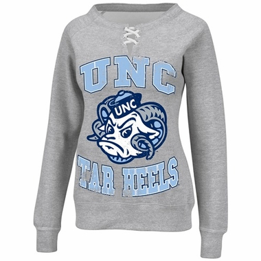 North Carolina Women's Lace Up Fan Sweatshirt