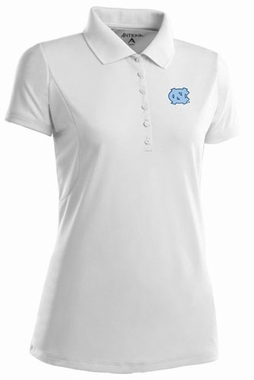 North Carolina Womens Pique Xtra Lite Polo Shirt (Color: White)