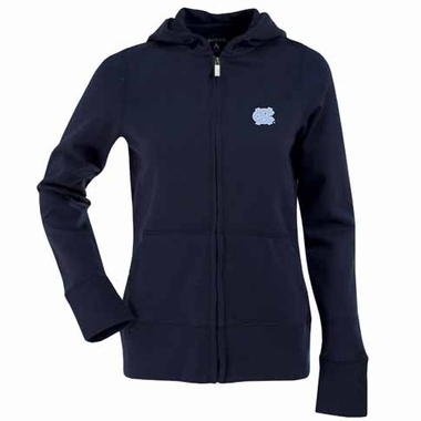 North Carolina Womens Zip Front Hoody Sweatshirt (Color: Navy)