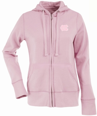 North Carolina Womens Zip Front Hoody Sweatshirt (Color: Pink)
