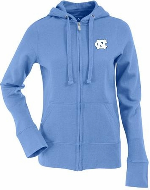 North Carolina Womens Zip Front Hoody Sweatshirt (Team Color: Aqua)
