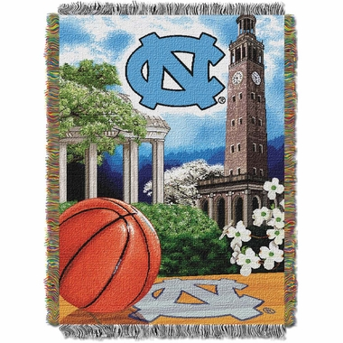North Carolina Woven Tapestry Throw Blanket