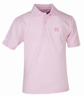 North Carolina YOUTH Unisex Pique Polo Shirt (Color: Pink)