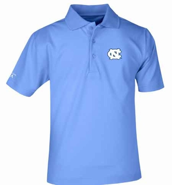 North Carolina YOUTH Unisex Pique Polo Shirt (Team Color: Aqua)