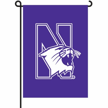 Northwestern 11x15 Garden Flag