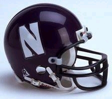 Northwestern Wildcats Replica Mini Helmet w/ Z2B Mask