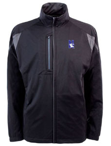 Northwestern Mens Highland Water Resistant Jacket (Team Color: Black) - Large