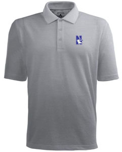 Northwestern Mens Pique Xtra Lite Polo Shirt (Color: Gray) - Large