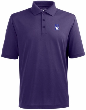 Northwestern Mens Pique Xtra Lite Polo Shirt (Color: Purple)