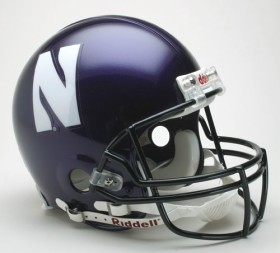 Northwestern Riddell Full Size Authentic Helmet