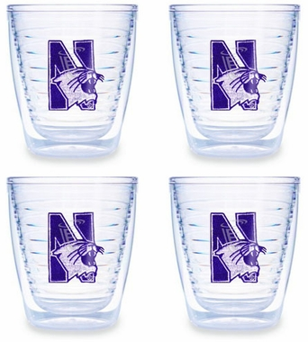 Northwestern Set of FOUR 12 oz. Tervis Tumblers