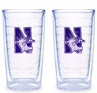 Northwestern Set of TWO 16 oz. Tervis Tumblers