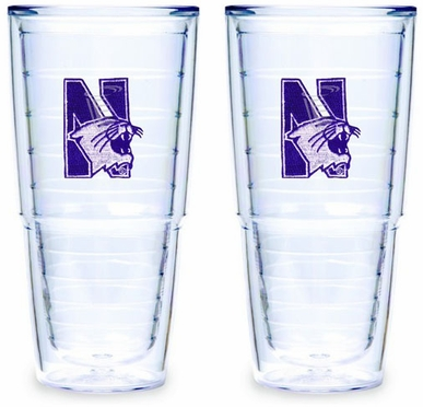 Northwestern Set of TWO 24 oz. Tervis Tumblers