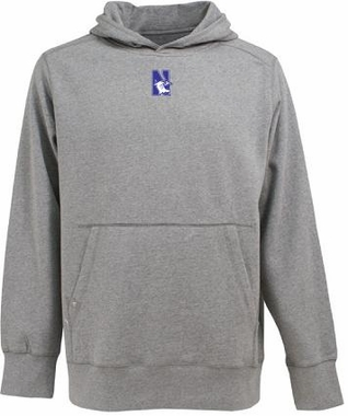 Northwestern Mens Signature Hooded Sweatshirt (Color: Gray)