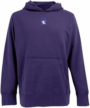 Northwestern Mens Signature Hooded Sweatshirt (Team Color: Purple)