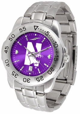 Northwestern Sport Anonized Men's Steel Band Watch