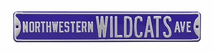 Northwestern Wildcats Ave Street Sign