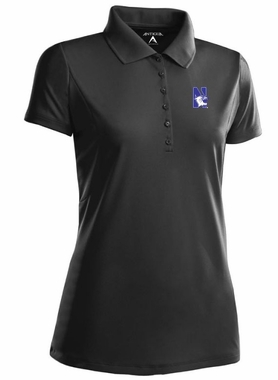 Northwestern Womens Pique Xtra Lite Polo Shirt (Team Color: Black)