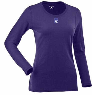 Northwestern Womens Relax Long Sleeve Tee (Team Color: Purple)