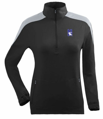 Northwestern Womens Succeed 1/4 Zip Performance Pullover (Team Color: Black)