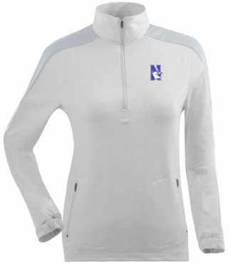 Northwestern Womens Succeed 1/4 Zip Performance Pullover (Color: White)