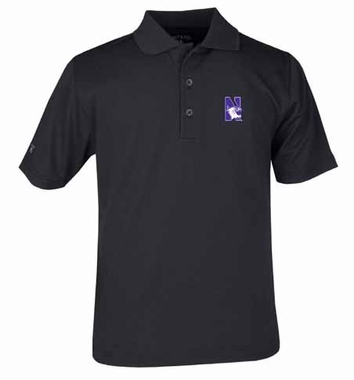 Northwestern YOUTH Unisex Pique Polo Shirt (Team Color: Black)