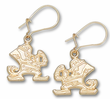 Notre Dame 14K Gold Leprechaun Post or Dangle Earrings