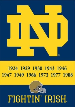 Notre Dame 2 Sided Championship Banner (P)
