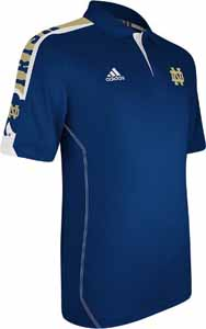 Notre Dame 2012 Sideline Swagger Performance Polo Shirt (Navy) - Medium