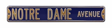 Notre Dame Ave Street Sign