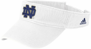 Notre Dame Basic Logo Adjustable Visor (White)