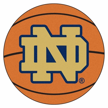 Notre Dame 27 Inch Basketball Shaped Rug