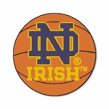 Notre Dame Basketball Shaped Rug