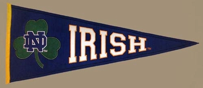Notre Dame (Clover) Wool Pennant