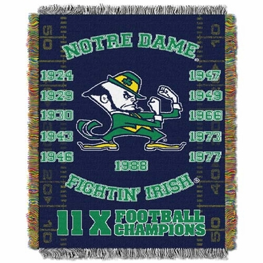 Notre Dame Commerative Jacquard Woven Blanket