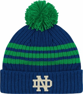 Notre Dame Cuffed Pom Knit Hat