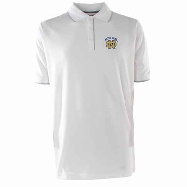 Notre Dame Mens Elite Polo Shirt (Color: White)