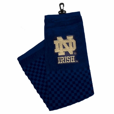 Notre Dame Embroidered Golf Towel